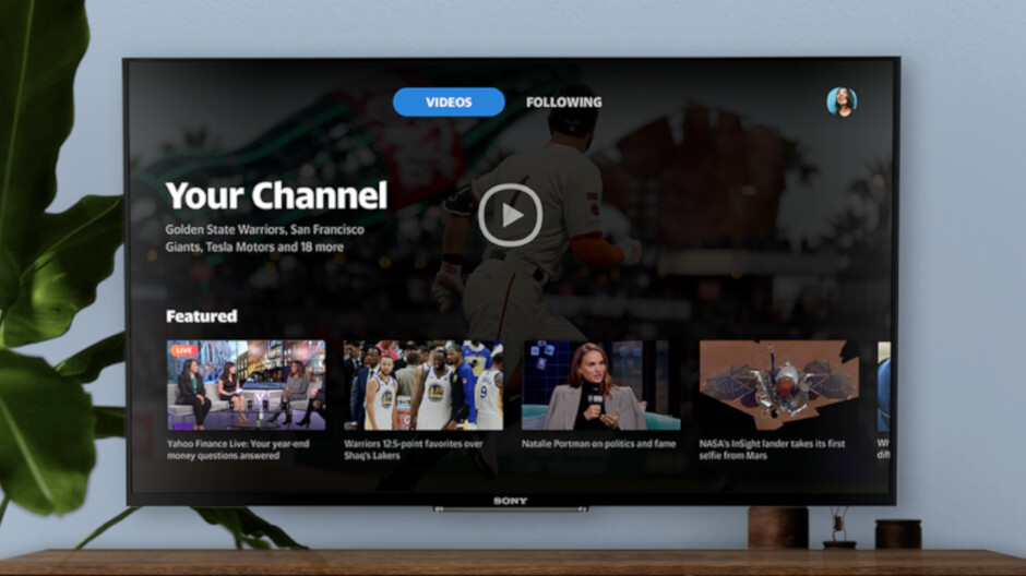 Yahoo video app now available on Android TV