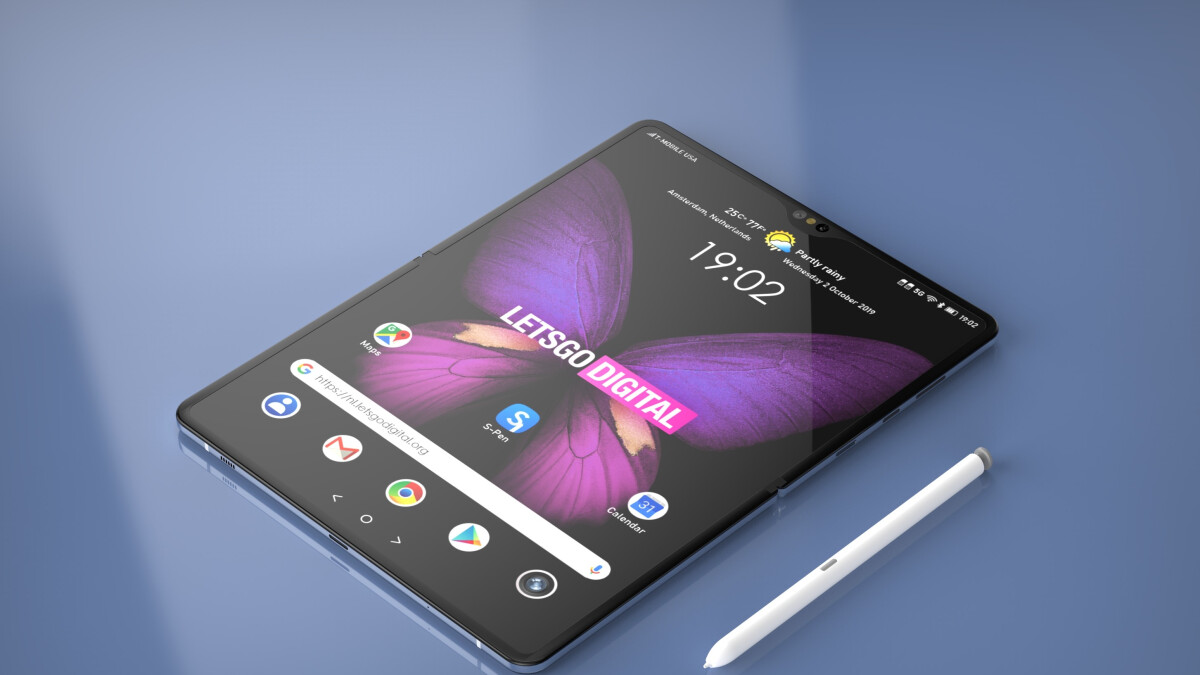 Samsung patent shows a foldable display that works with the S Pen