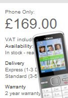 Unlocked Nokia C5 can be bought for £169 through Nokia's site