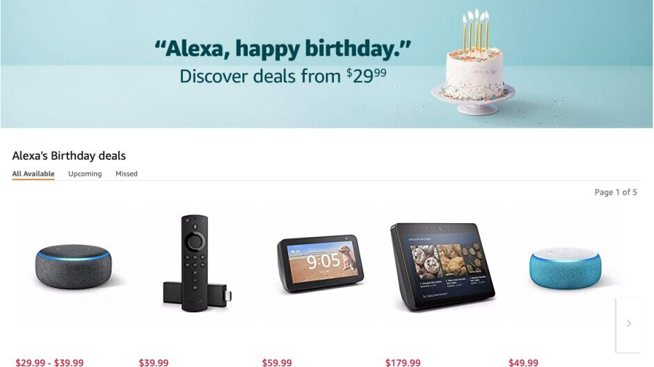 Amazon celebrates Alexa's birthday with deals on Echo devices, tablets, and more