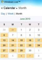 Windows Live Calendar can now be accessed through your smartphone
