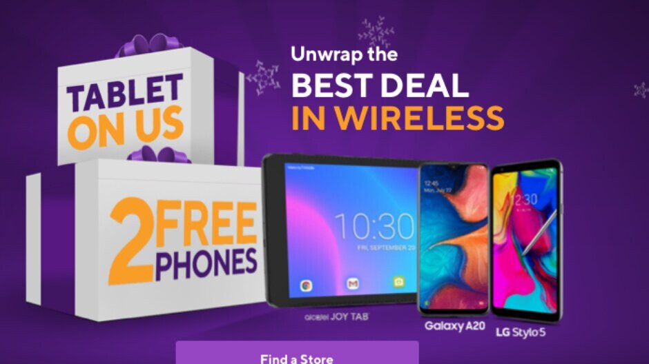 T-Mobile's flagship prepaid brand can hook you up with two free phones and a tablet for the holidays