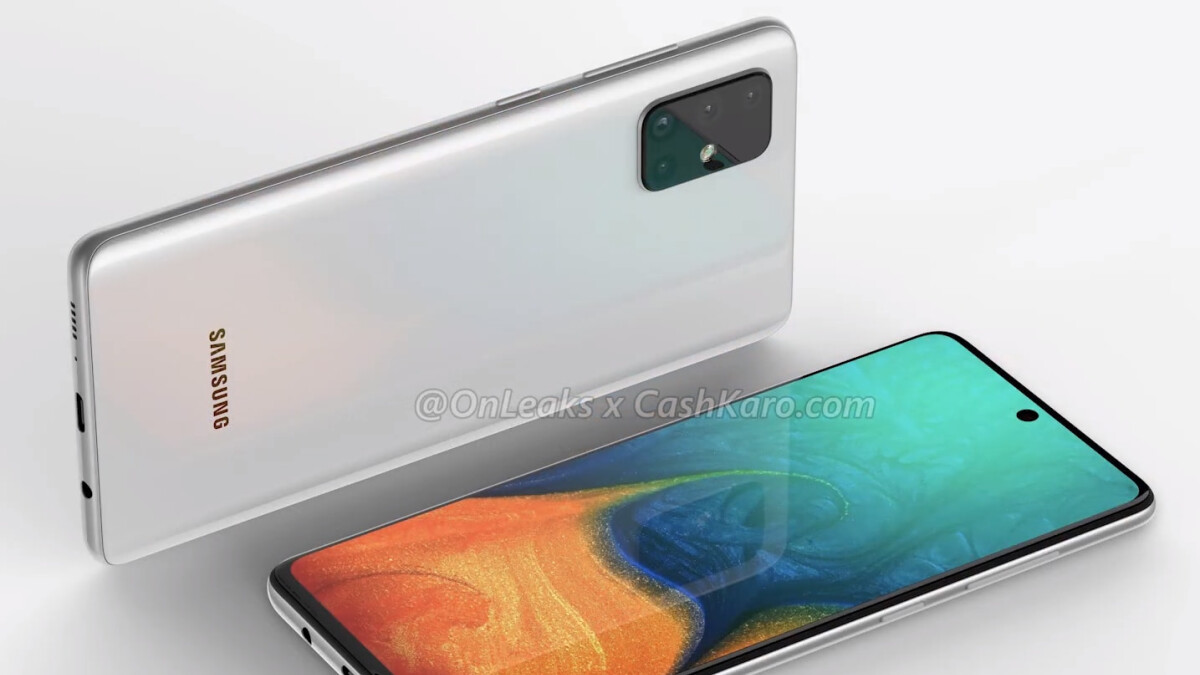 Quad Camera Galaxy A71 Leaks With Massive Punch Hole Display Headphone Jack Phonearena
