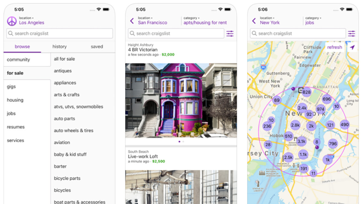 Craigslist launches official iPhone app... 11 years after the launch of the iPhone