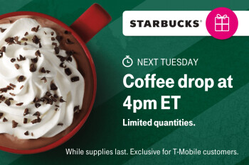 T-Mobile will give away half a million Starbucks gift cards as a bonus deal next Tuesday