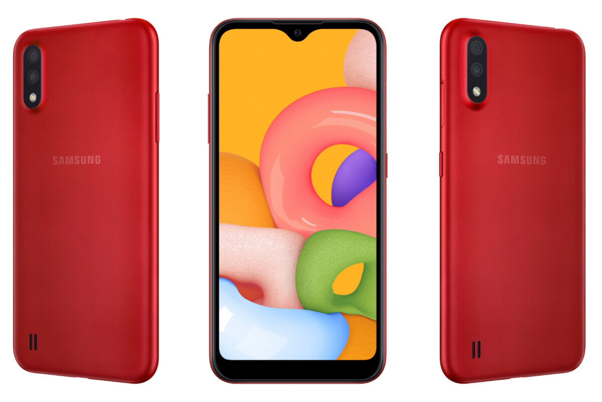 Entry Level Galaxy A01 Goes Official With Dual Camera Setup Headphone Jack Phonearena