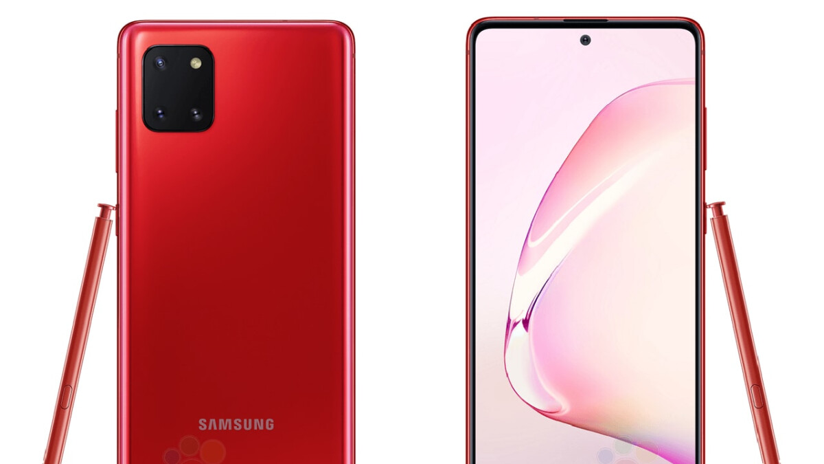 Check out these leaked Galaxy Note 10 Lite press renders