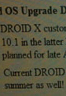 First-gen DROID to get Froyo before DROID X
