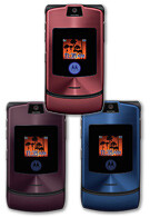Motorola RAZR V3i comes in three new colors