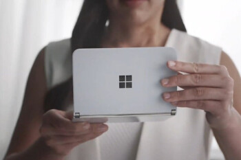 Dual-screened Surface Duo gets photo opp with Microsoft's CEO Nadella