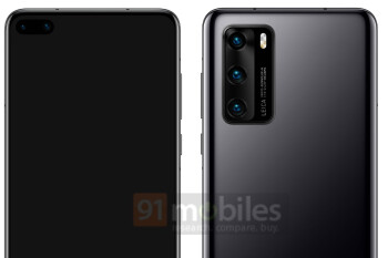 Huawei P40 leaks out with punch-hole display, triple-camera setup