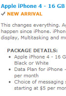 UPDATED:AT&T offers the iPhone 4 once again, via retail stores or online, in black or white