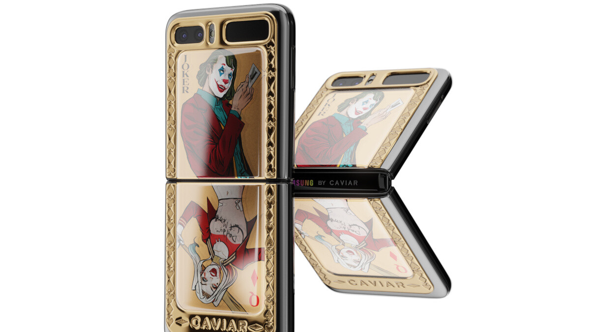 The secret is out: boutique shop shows off the Galaxy Z Flip in cool Joker / Harley edition