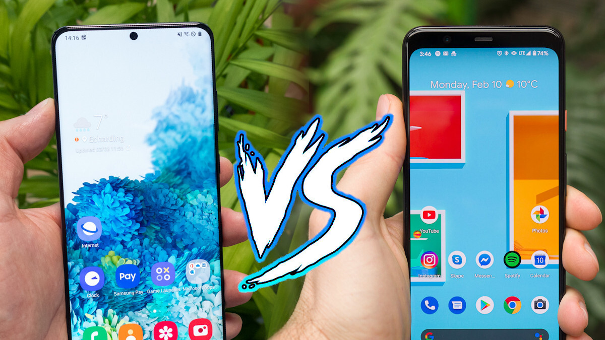 Samsung Galaxy S20 Ultra vs Google Pixel 4 XL: specs, size and design comparison