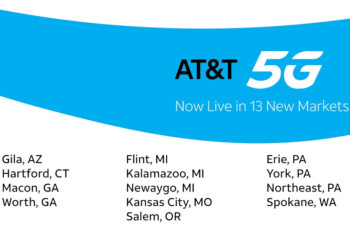 AT&T lights up 5G in 13 additional markets