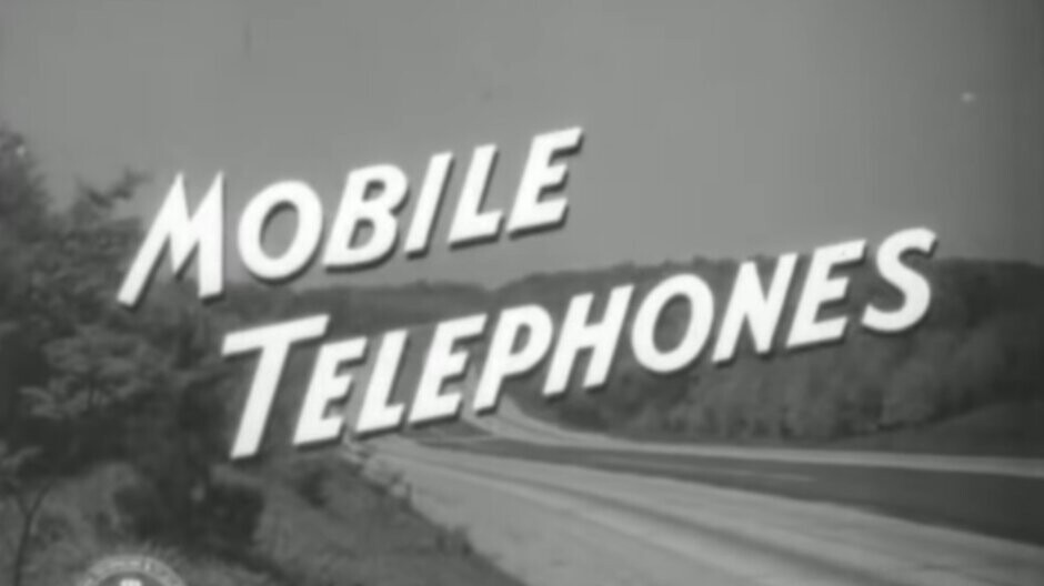 You must see this 1940s video showing what passed for mobile telephony at the time