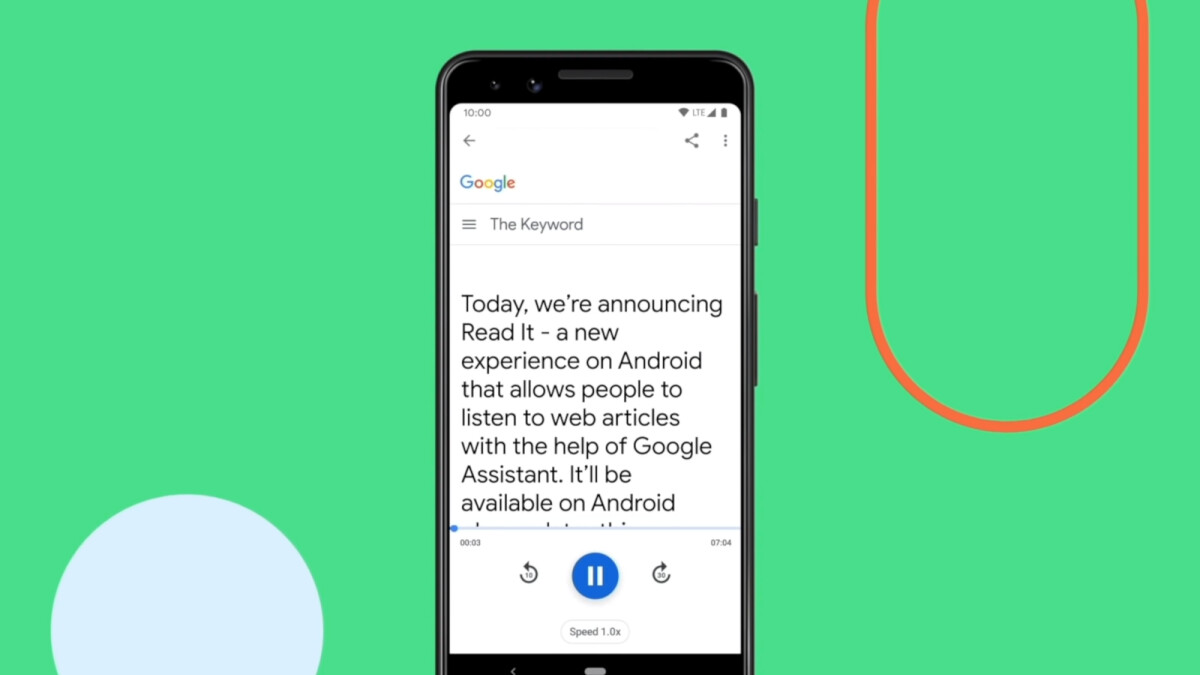 Google Assistant can now read web articles on your Android phone