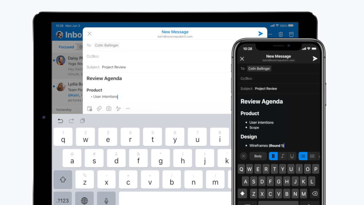 Microsoft introduces new text formatting options in Outlook for iOS