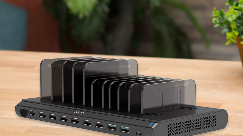 The Alxum 120W 10-port USB charging station is here to charge all your devices at once