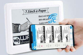 A new e-ink display needs no batteries, can be powered by a phone's NFC chip