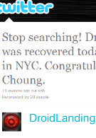 DROID X Designate #4 found in New York; still 20 more DROID X units to be won