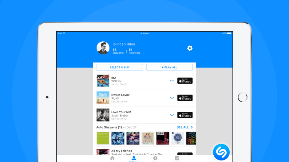 Apple brings new features to Shazam users on iPad