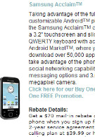 Samsung's Acclaim launched today by U.S. Cellular