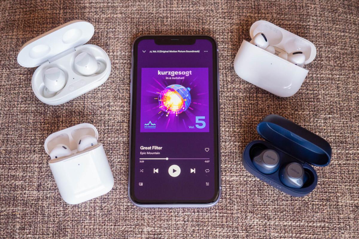 Samsung Galaxy Buds Vs Airpods Pro Airpods Jabra Elite Active