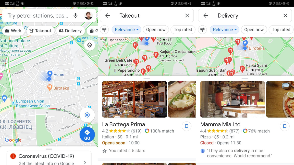 New Google Maps feature will help you get food delivered to your door