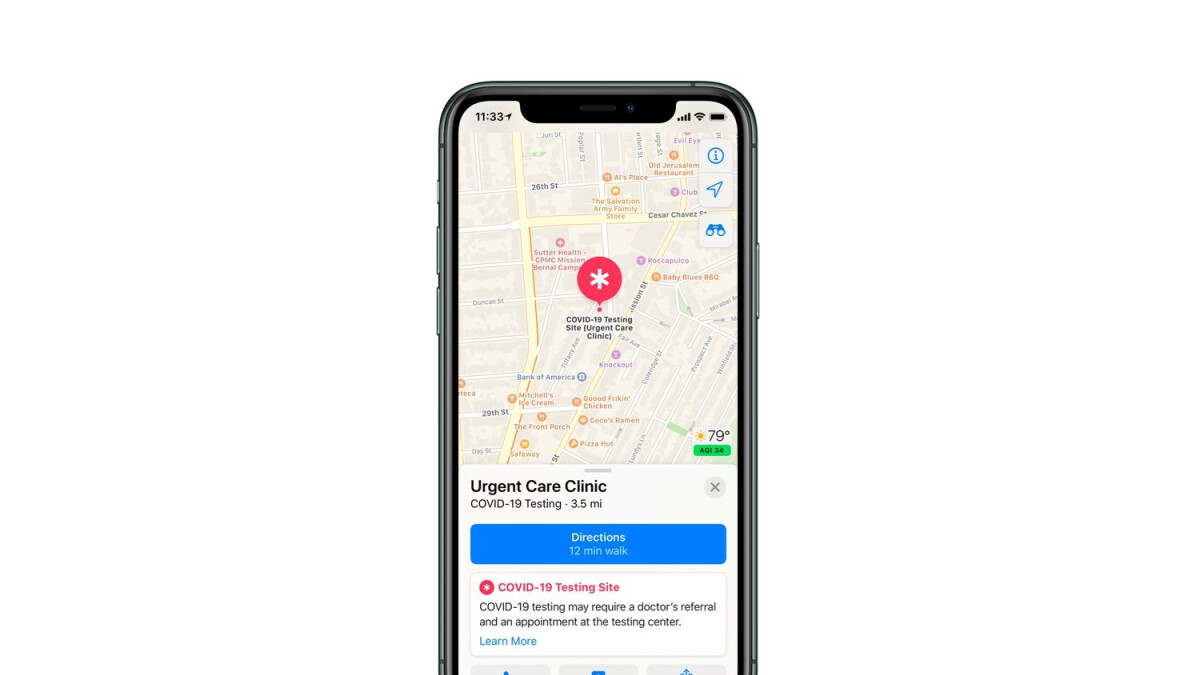 Apple starts registering COVID-19 testing locations, will display them on Apple Maps
