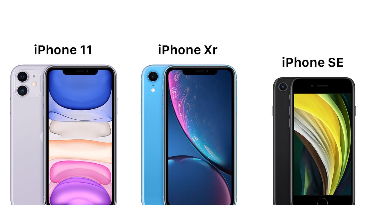 iPhone SE (2020) vs iPhone 11 vs iPhone XR