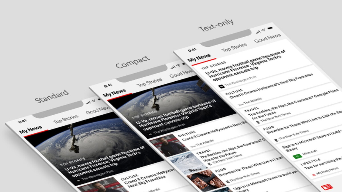 The Microsoft News app gets a new logo and COVID-19 news and alerts