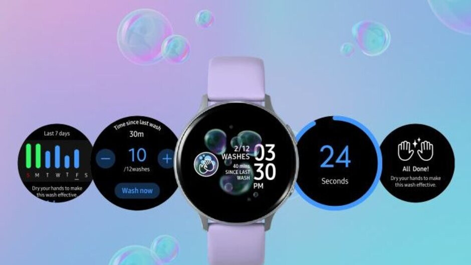 Samsung joins the handwashing party with a new Galaxy Watch app