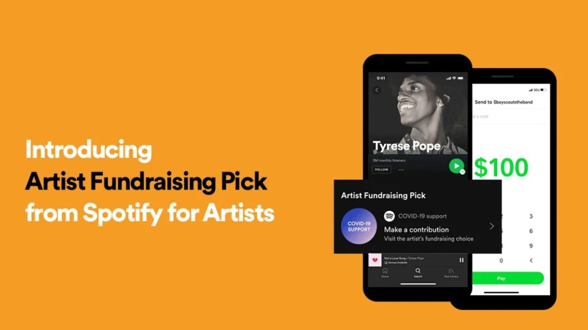 Spotify now lets you tip your favorite artists or donate to a charity
