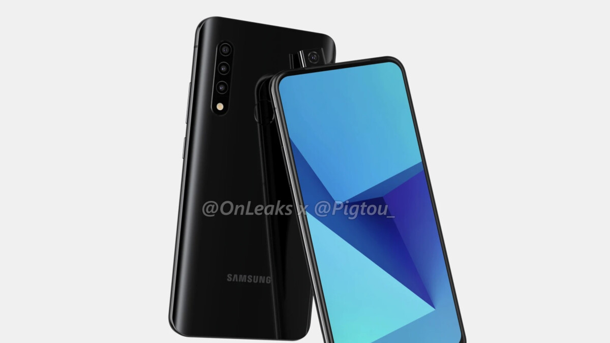 Renders allegedly reveal Samsung's first phone with a pop-up camera; 5G support not clear