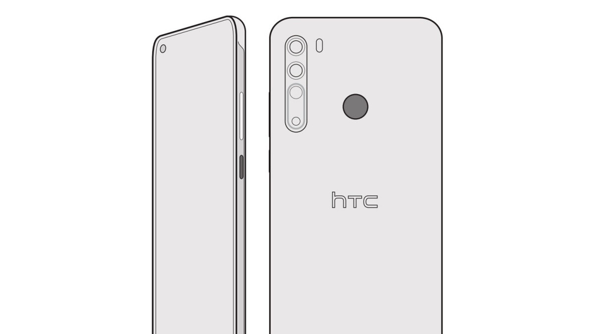 Leaked sketch reveals premium HTC Desire 20 Pro design