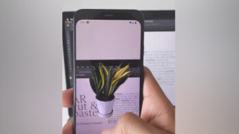 Watch a smartphone camera app take objects from the real world and paste them into Photoshop