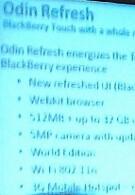 Slide shows Odin refresh specs for BlackBerry Storm 3