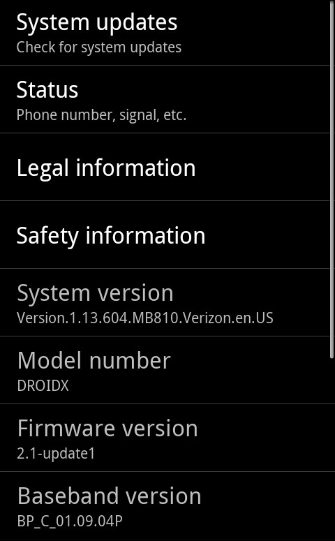 Motorola DROID X firmware update now being rolled out