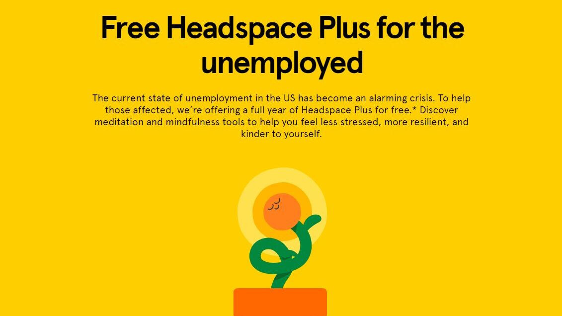 Headspace offers free meditation to unemployed Americans
