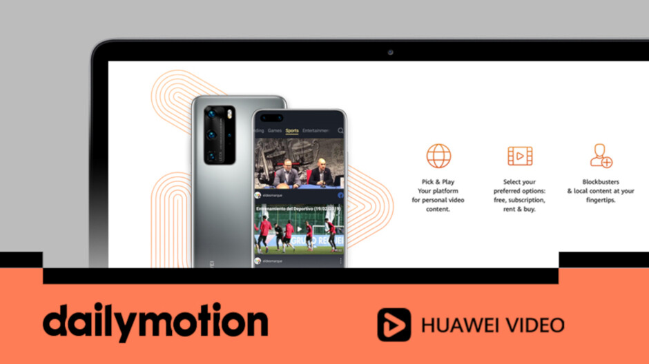 Since Huawei can't use the top video sharing service, it has hooked up with number two