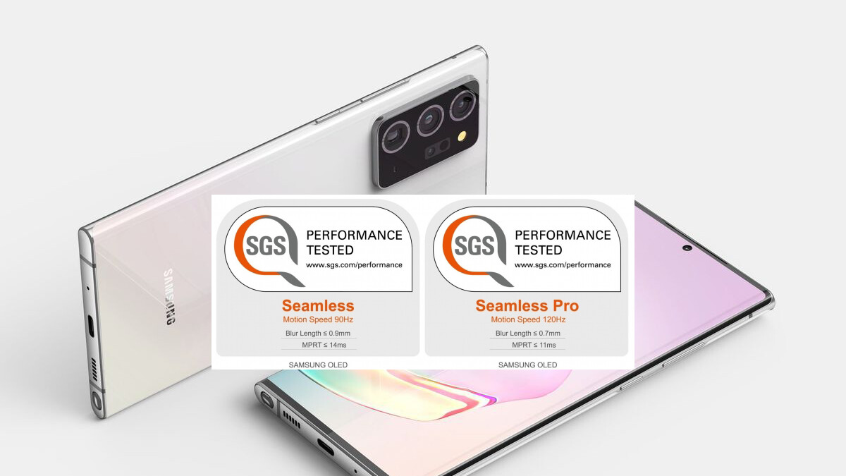 Potential Samsung Note 20 and Galaxy S21 screens certified as 'Seamless Display' with 90Hz refresh mode