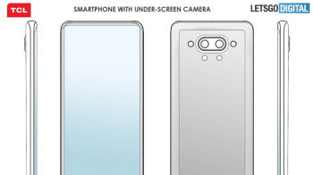 TCL patents a stylish phone with in-display camera