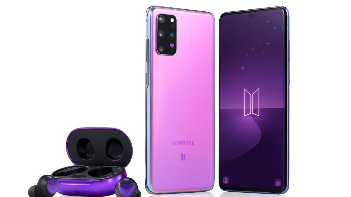 Samsung unveils special purple-coated Galaxy S20+ 5G and Buds+ BTS Editions