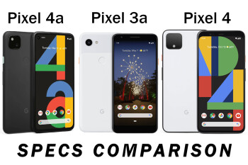 Google Pixel 4a vs Pixel 3a vs Pixel 4: design and specs comparison