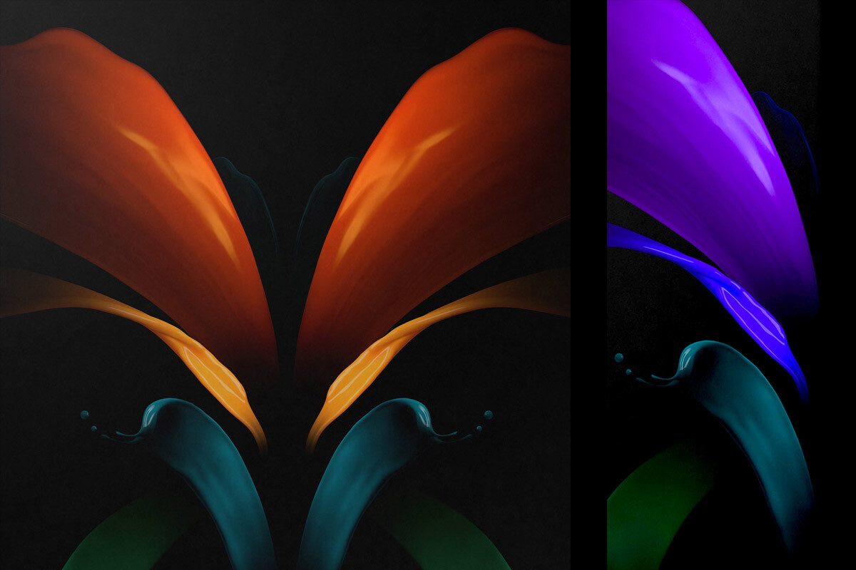 Leaked Galaxy Z Fold 2 Wallpapers Tip It Won T Fulfill A Major Foldable Phone Promise Phonearena
