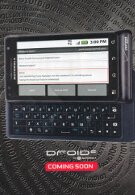 Advertisement insert displays the DROID 2 as