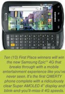 Movie tie-in and sweepstakes may point to the Samsung Epic 4G's release