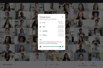 Google Meet now shows up to 49 people in a call, adds tile layout options
