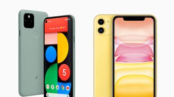 Google Pixel 5 vs Apple iPhone 11